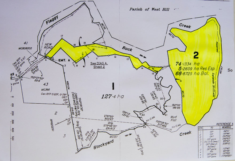 Plan of property for sale with subject area highlighted in yellow